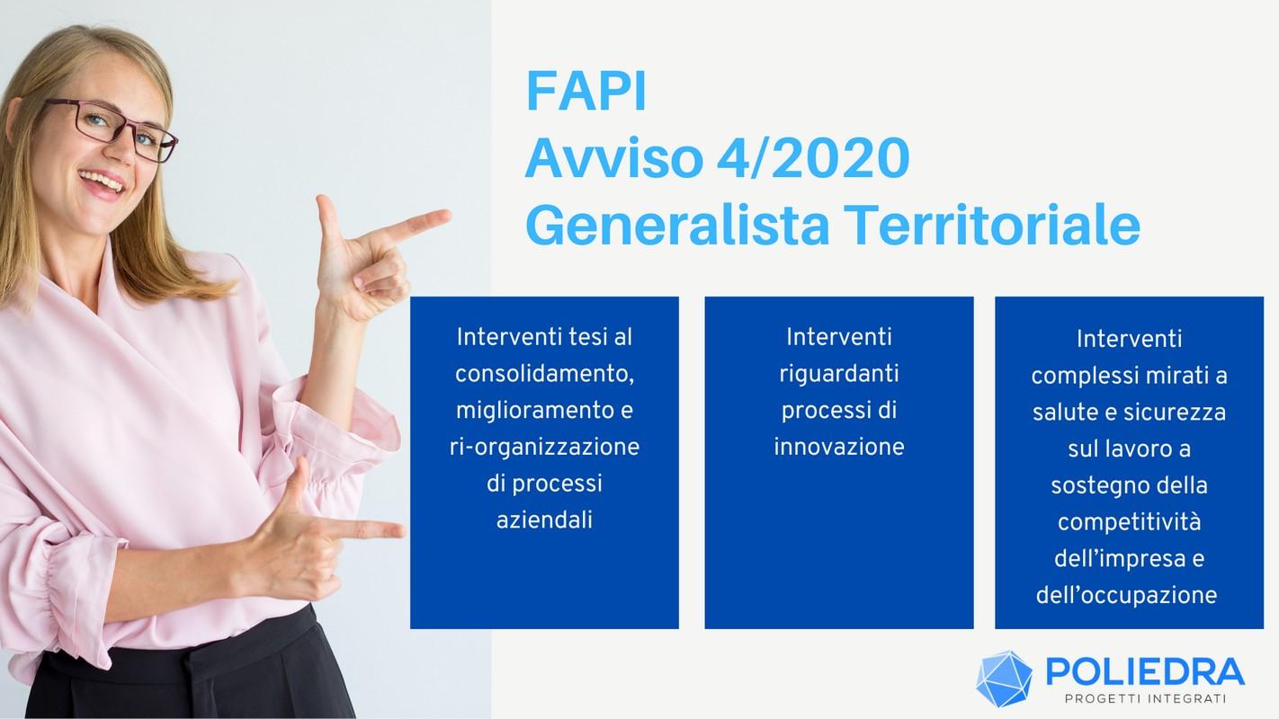 FAPI – Avviso 4-2020 Generalista Territoriale