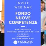 Invito webinar FNC Fondo Nuove Competenze - Poliedra Spa